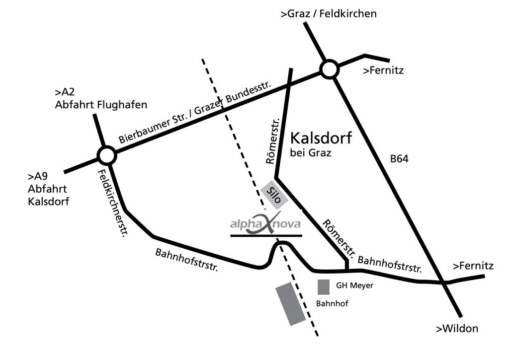 Anfahrtsplan alpha nova kalsdorf